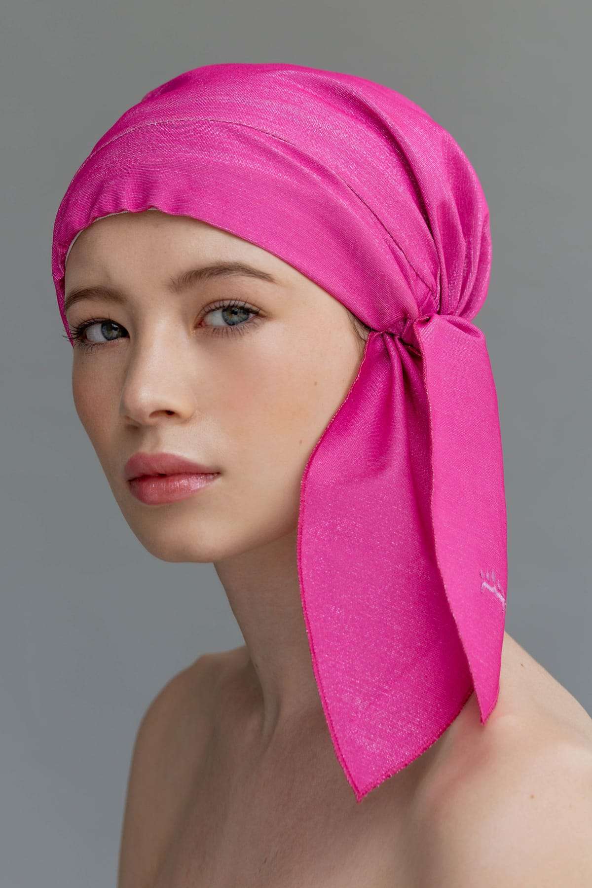 Sustainable pink shower cap