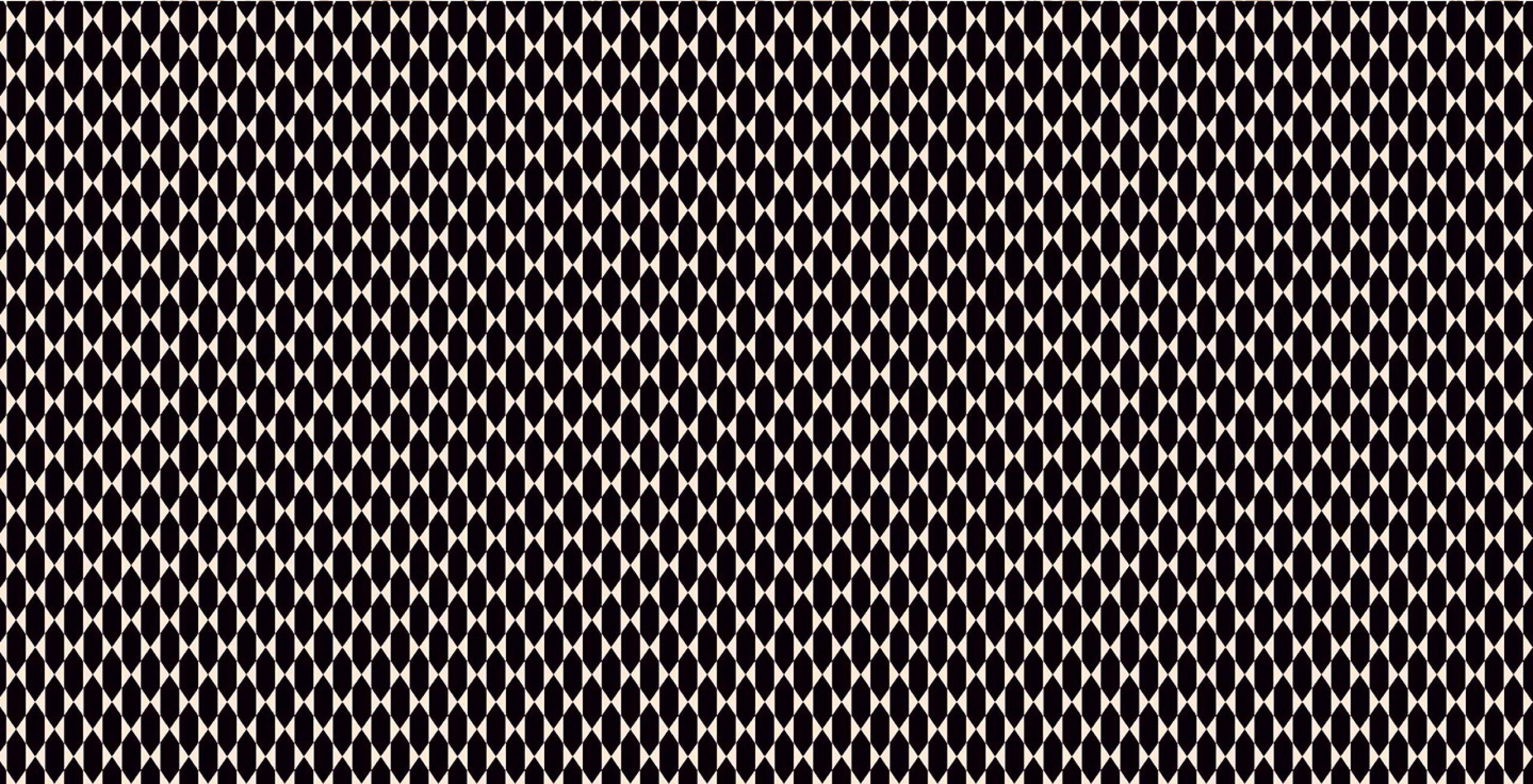 Estampado tipo mosaico blanco y negro