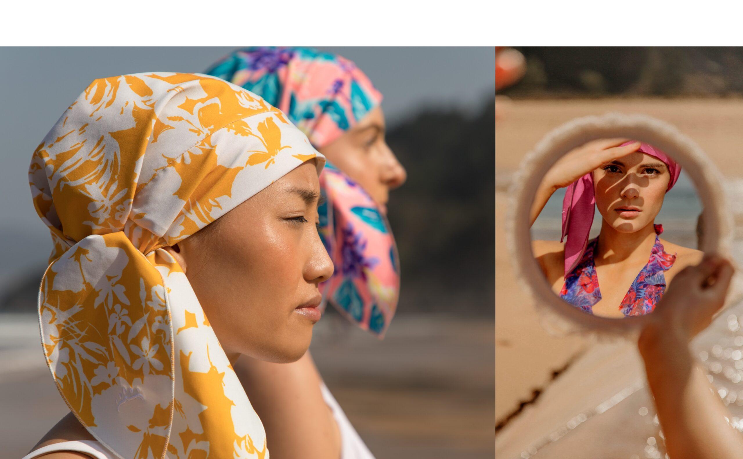 Shower cap y complemento de moda elegante y sostenible